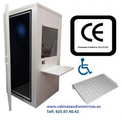Cabina audiológica para audiometrías adaptada a minusválidos