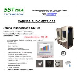 Cabina Audiométrica Insonorizada SST80 Basic SST2004